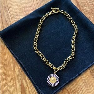Marc Jacobs gold necklace with attached charm